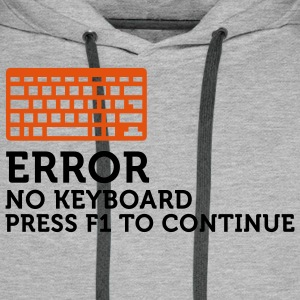 Error No Keyboard 2 (2c) T-Shirts - Men's Premium Hoodie
