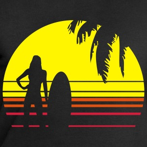 BEACH SURFING GIRL PALME T-shirts - Sweat-shirt Homme Stanley & Stella