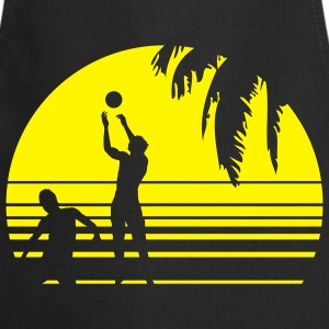 BEACH VOLLEYBALL SUNSET PALME 1C T-Shirts - Cooking Apron