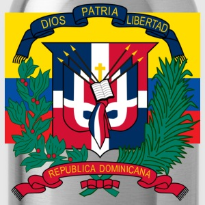 Crest Dominican Republic (dd) T-Shirts - Trinkflasche