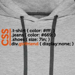 Css Clothes Girlfriend (2c)++ T-skjorter - Premium hettegenser for menn