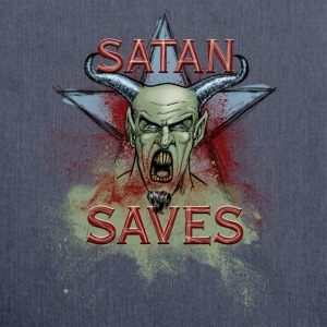 Satan Saves - Shoulder Bag made from recycled material