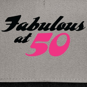 Fabulous At 50 (dd) Camisetas - Gorra Snapback
