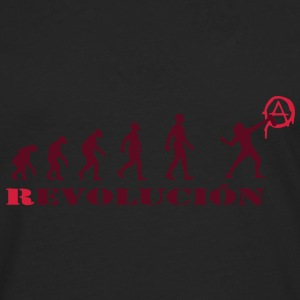 r-evolution, evolution, revolution, street art, anarchy T-Shirts - Men's Premium Longsleeve Shirt