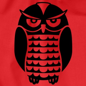 Black Owl T-shirts - Gymnastikpåse