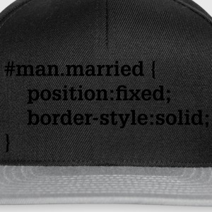 Groom - husband - CSS - HTML T-Shirts - Snapback Cap