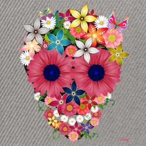 skull flowers by WAM Tee shirts - Casquette snapback