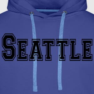 Seattle Tee shirts - Sweat-shirt à capuche Premium pour hommes