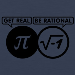 get real - be rational (1c) T-Shirts - Men's Premium Tank Top