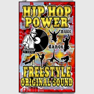 hip hop power freestyle original sound T-Shirts - Water Bottle