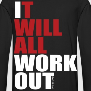 It Will All Workout - White&Red - Men's Premium Longsleeve Shirt