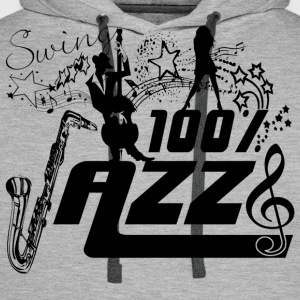 swing 100% jazz Tee shirts - Sweat-shirt à capuche Premium pour hommes
