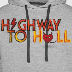 Highway to hell T-Shirts - Männer Premium Hoodie