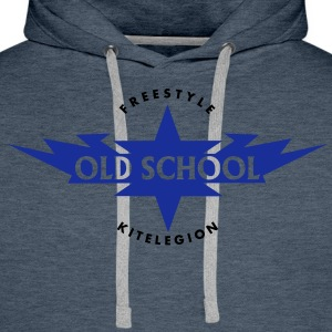 old_school_vec_2de T-Shirts - Sweat-shirt à capuche Premium pour hommes