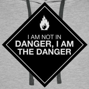I am the danger - Sweat-shirt à capuche Premium pour hommes