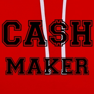 Cash Maker T-Shirts - Contrast Colour Hoodie
