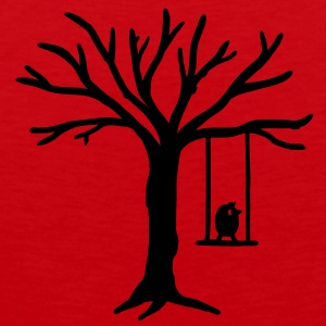 Bird Tree Swing T-Shirts - Men's Premium Tank Top
