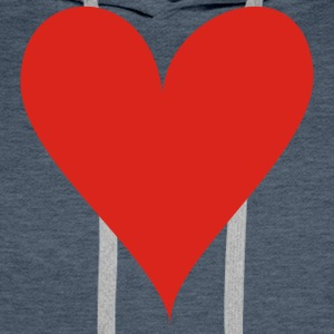 Dark navy Heart T-Shirts - Men's Premium Hoodie