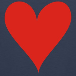 Dark navy Heart T-Shirts - Men's Premium Tank Top