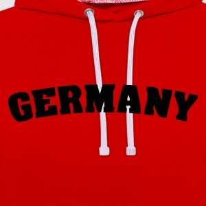 Red Germany T-Shirts - Contrast Colour Hoodie