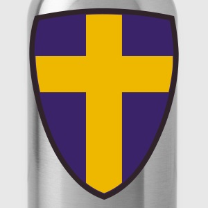 Koningsblauw Shield of Sweden Heren t-shirts - Drinkfles