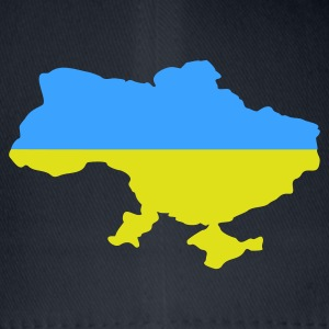 Bleu royal Ukraine flag map Hommes - Casquette Flexfit
