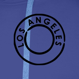 Royal blue Los Angeles Men's Tees (short-sleeved) - Men's Premium Hoodie