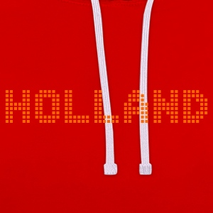 Dark orange Holland Netherlands Pixel T-Shirts - Contrast Colour Hoodie