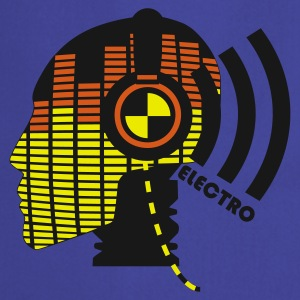 Sky Blue sound test dummy - electro T-Shirt - Förkläde