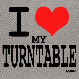 i love turntable T-shirts (m. courtes) - Casquette snapback