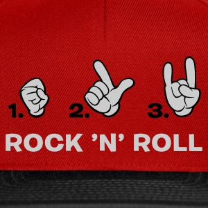 Rot how to rock 'n' roll T-Shirts (Kurzarm) - Snapback Cap