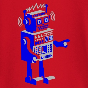 Wine roboter retro robot  T-Shirts - Baby Long Sleeve T-Shirt