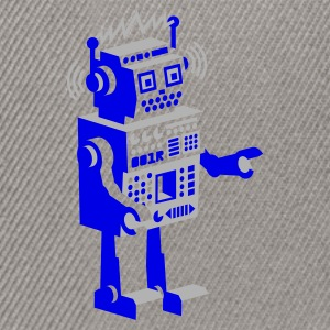 Olive roboter retro robot  Tee shirts - Casquette snapback