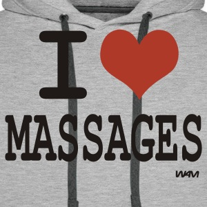 i love massages T-shirts (m. courtes) - Sweat-shirt à capuche Premium pour hommes