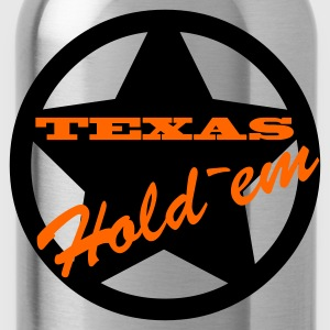 Eigelb POKER_Texas_Hold`em T-Shirts - Trinkflasche