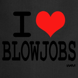 Noir I love blowjobs by wam T-shirts - Tablier de cuisine