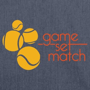 GAME SET MATCH - Shoulder Bag made from recycled material