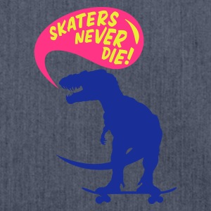 Navy t-rex skater Men's Tees - Shoulder Bag made from recycled material