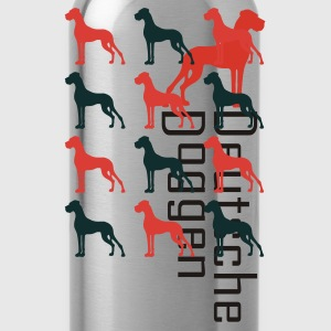 Olive Zwei Farben Komposition Dogge T-Shirts - Trinkflasche