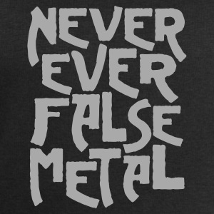 Black never ever false metal Men's Tees - Men's Sweatshirt by Stanley & Stella