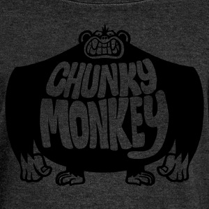 Brown Chunky Monkey Men's Tees - Women's Boat Neck Long Sleeve Top