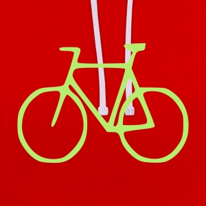 Rood Fiets T-shirts - Contrast hoodie