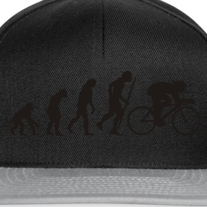 Egg yellow Evolution of cycling Men's Tees - Snapback Cap