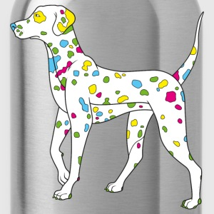Navy colorfully dog - dalmatiner T-shirts - Gourde