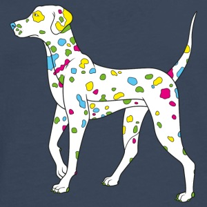 Navy colorfully dog - dalmatiner T-shirts - T-shirt manches longues Premium Homme