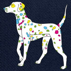 Navy colorfully dog - dalmatiner T-shirts - Casquette snapback