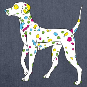 Navy colorfully dog - dalmatiner T-shirts - Sac bandoulière 100 % recyclé