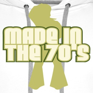 Wit Made In The 70s Dancer T-shirts - Mannen Premium hoodie