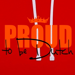 Proud to be Dutch T-Shirts - Kontrast-Hoodie