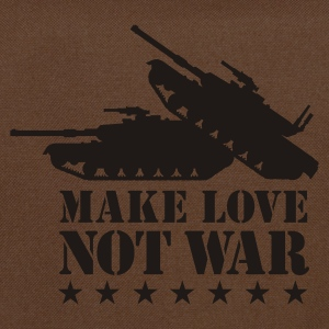 Olijfgroen Make love not war 1clr T-shirts - Schoudertas
